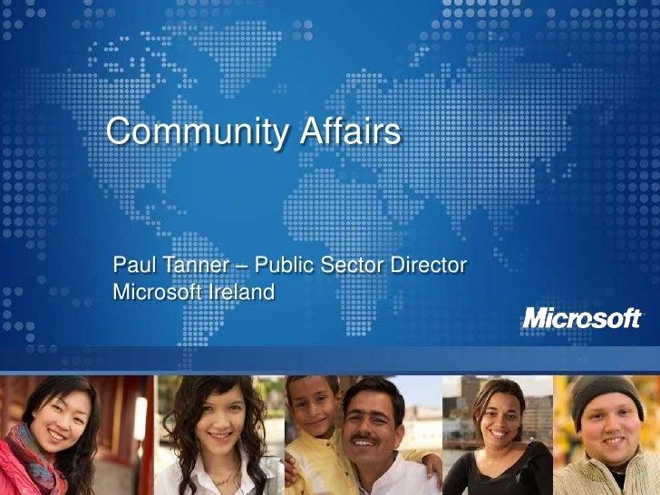 Paul Tanner – Public Sector Director<br />Microsoft Ireland<br />