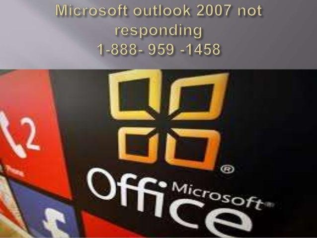 microsoft outlook 2007 not responding