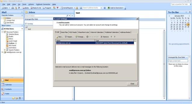 Microsoft Outlook 2007 Setup Guide