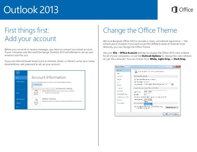 Microsoft Outlook 2013 Quickstart Slide 2