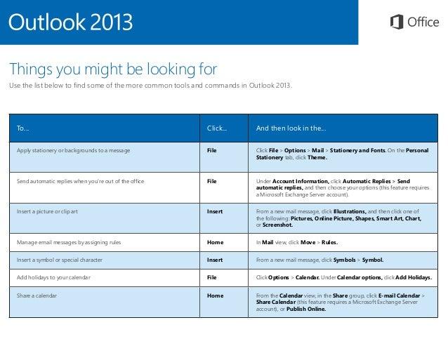 Microsoft Outlook 2013 Quickstart Slide 3