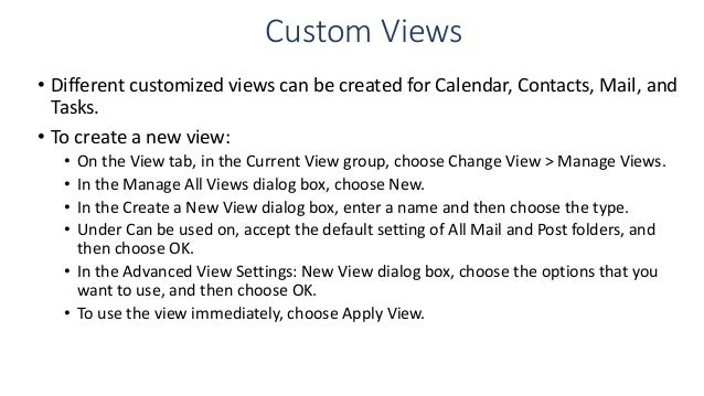 how to change calendar view in outlook 2013