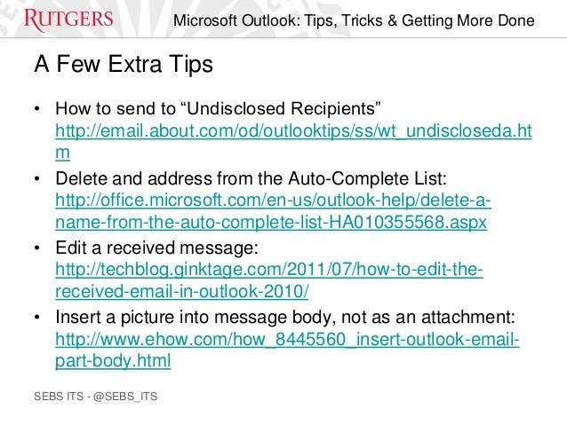 microsoft outlook tips  u0026 tricks