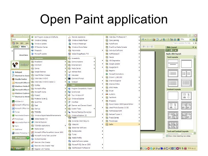 Open Paint application