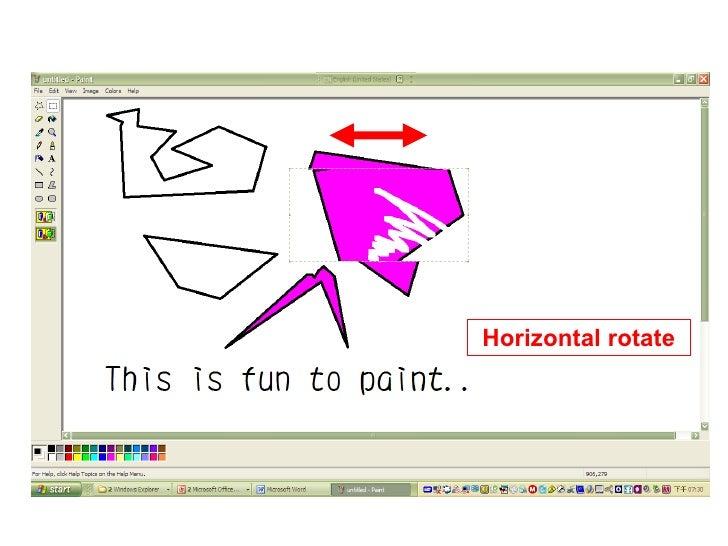 Horizontal rotate