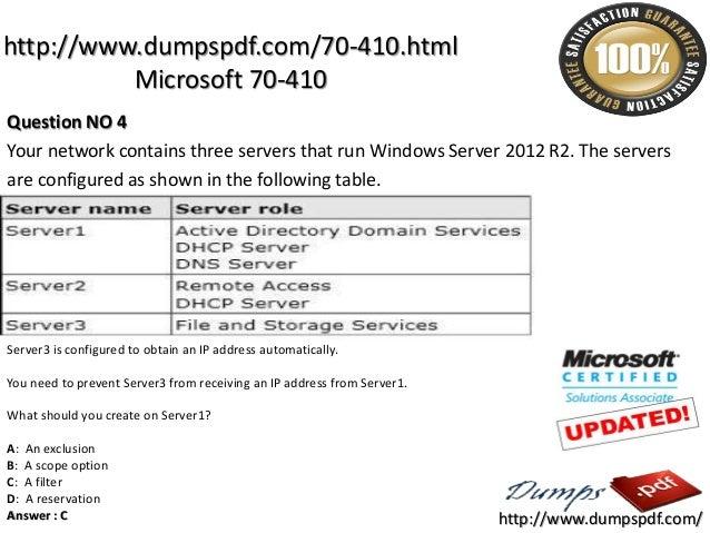 70 410 PDF TESTKING PDF