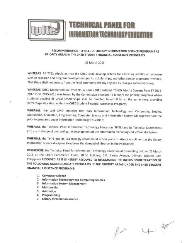 Resolution approving LIS for STUFAF