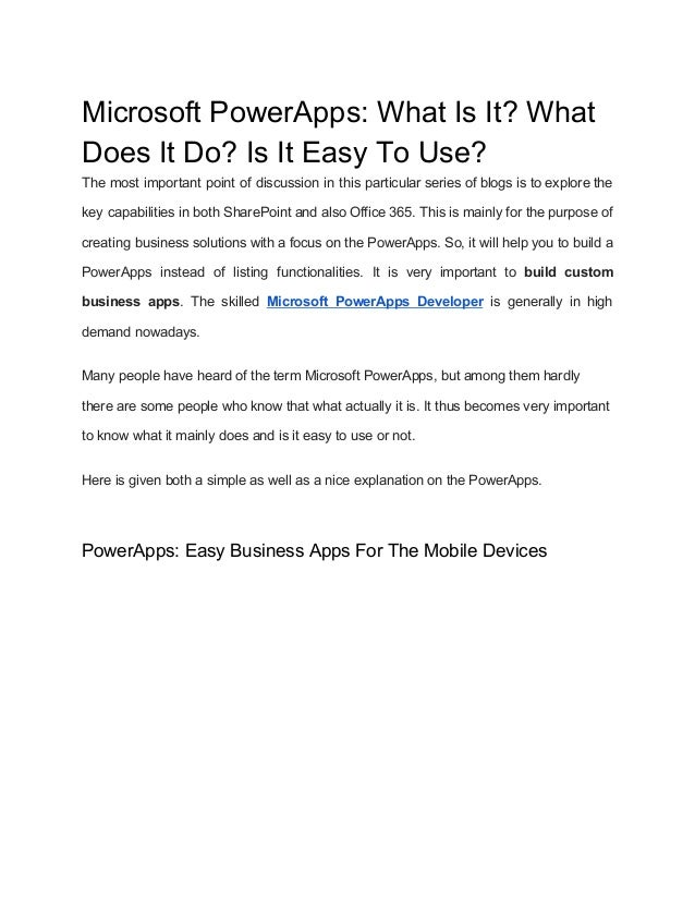 Microsoft power apps what is it_ what does it do_ is it easy