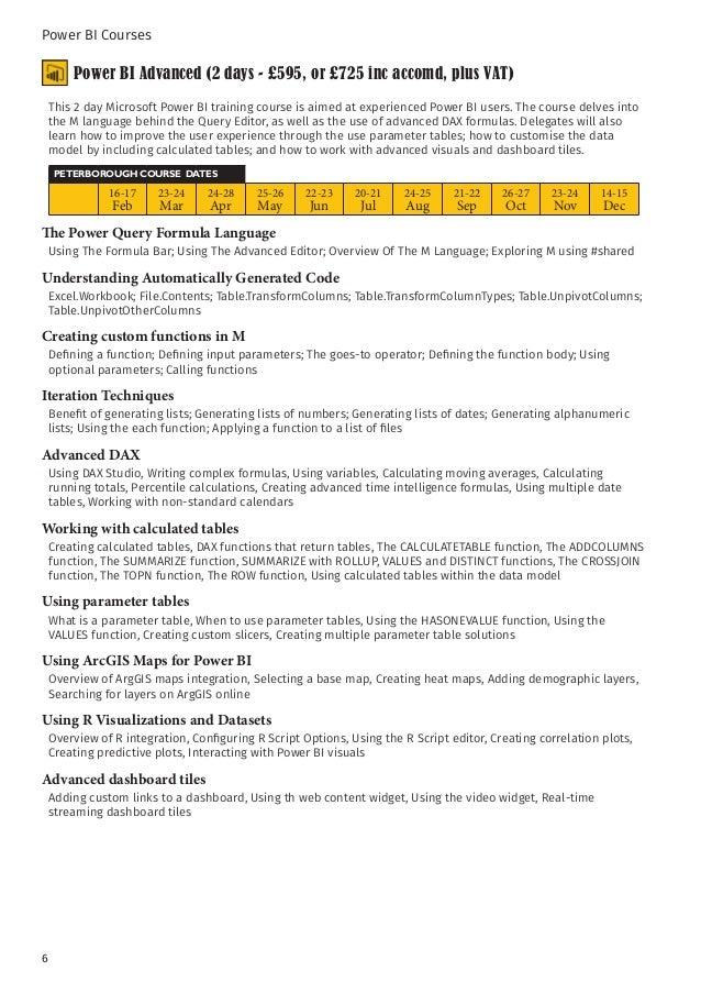Microsoft power bi training courses