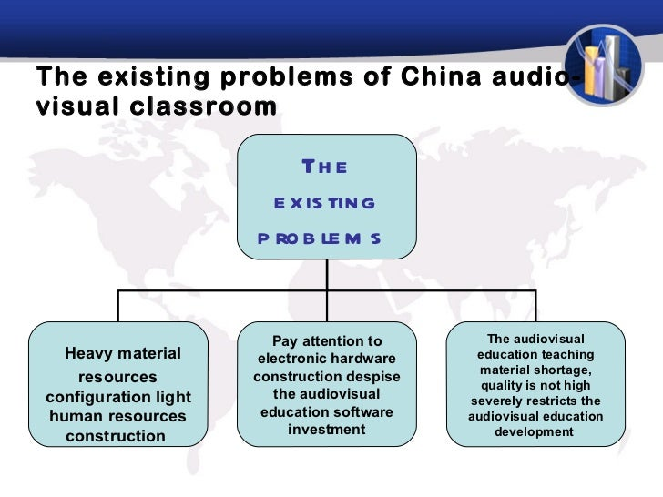 The existing problems of China audio-visual classroom The existing problems  Heavy material resources configuration light ...