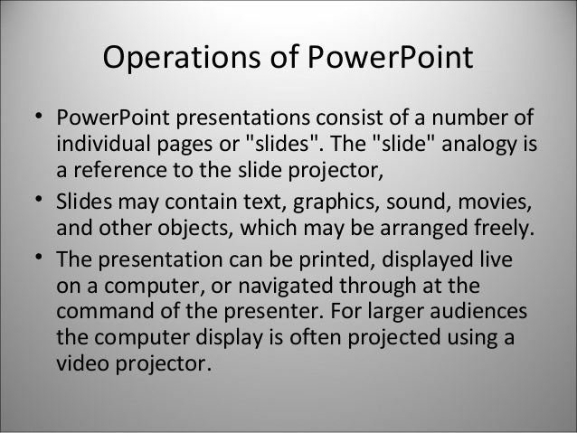 types of power points