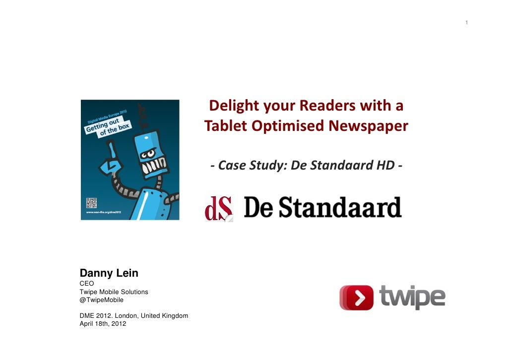 1                                    Delight your Readers with a                                   Tablet Optimised Newspa...