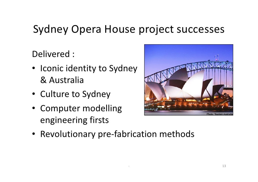 Sydney opera house project case study