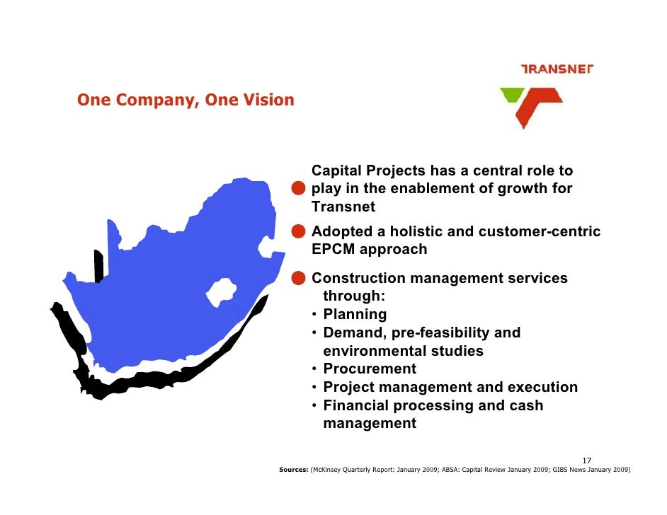 One Company, One Vision                                  Capital Projects has a central role to                           ...