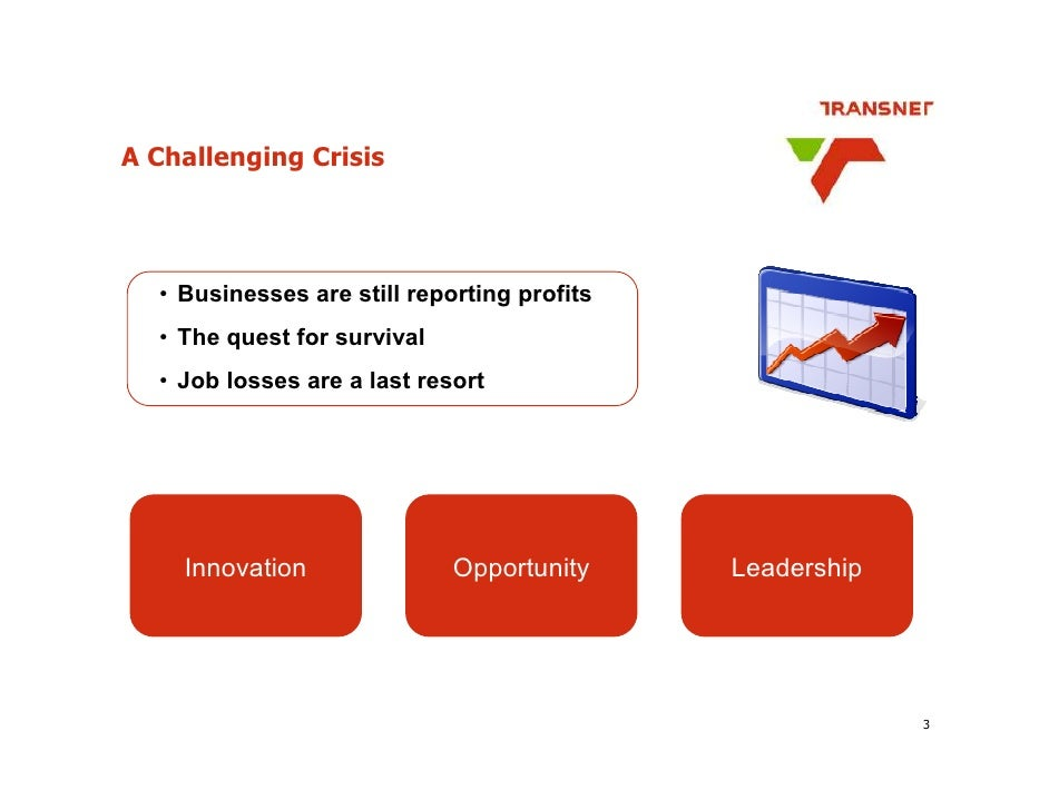 A Challenging Crisis       • Businesses are still reporting profits   • The quest for survival   • Job losses are a last r...