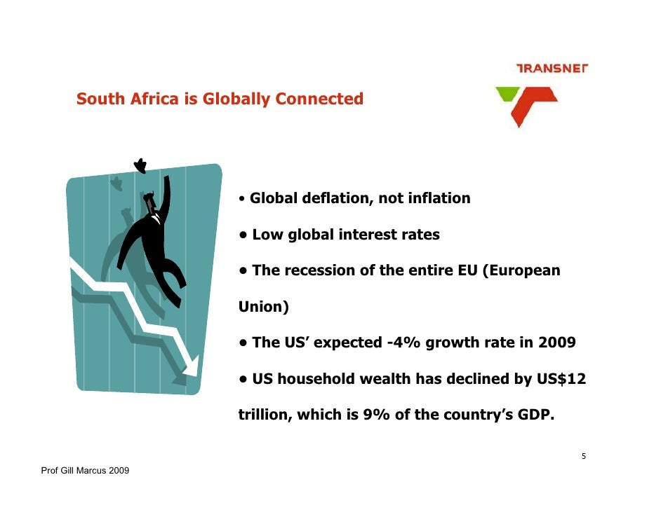 South Africa is Globally Connected                                • Global deflation, not inflation                       ...