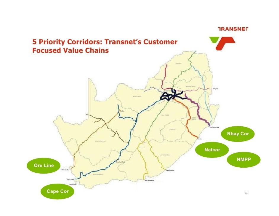 5 Priority Corridors: Transnet's Customer Focused Value Chains                                                          Rb...