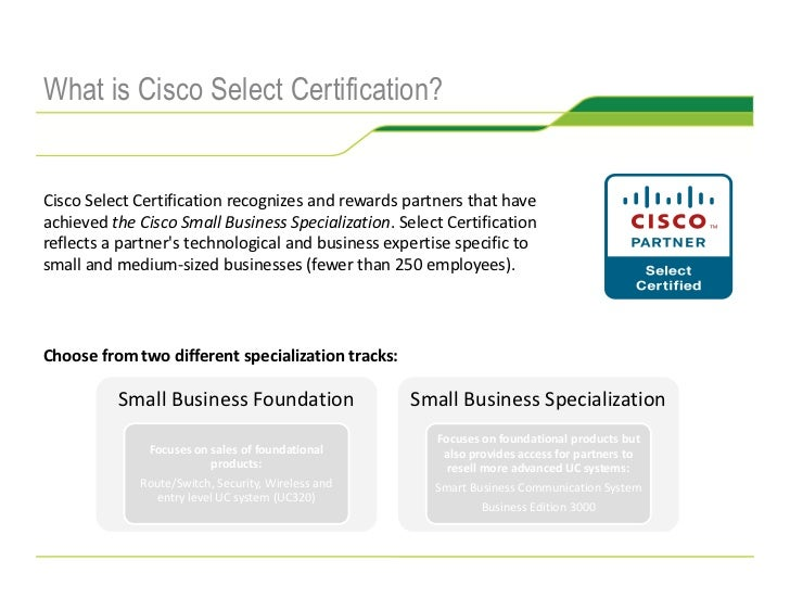 Eight Reasons to be a Cisco Select Certified Partner