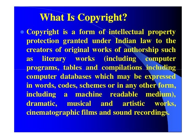 Comparative Study Of The Main Features Of Copyright Law In