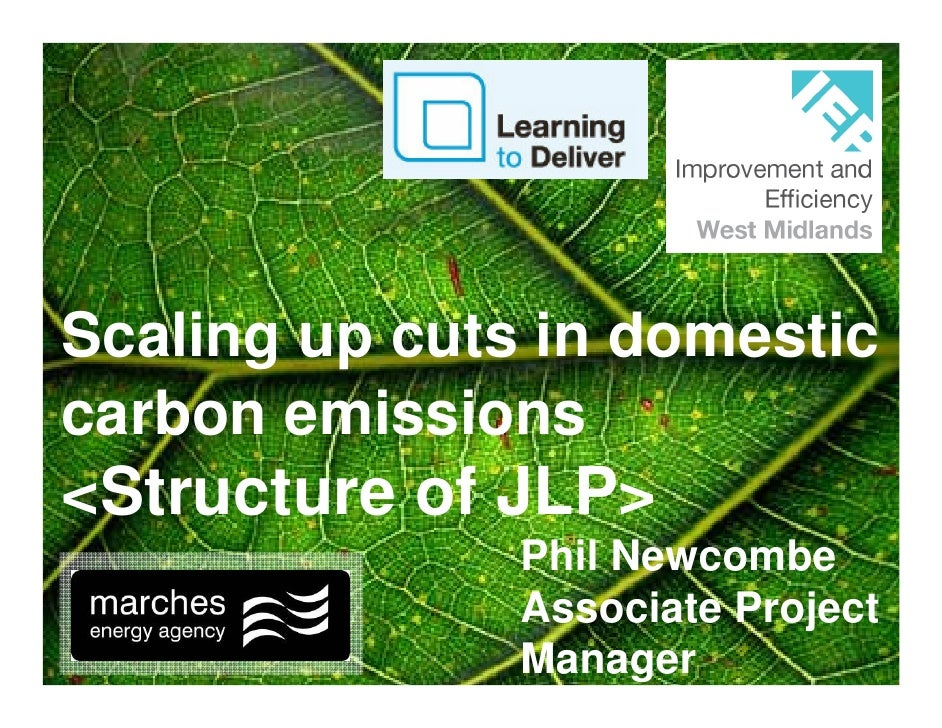 Scaling up cuts in domestic carbon emissions <Structure of JLP>                Phil Newcombe                Associate Proj...