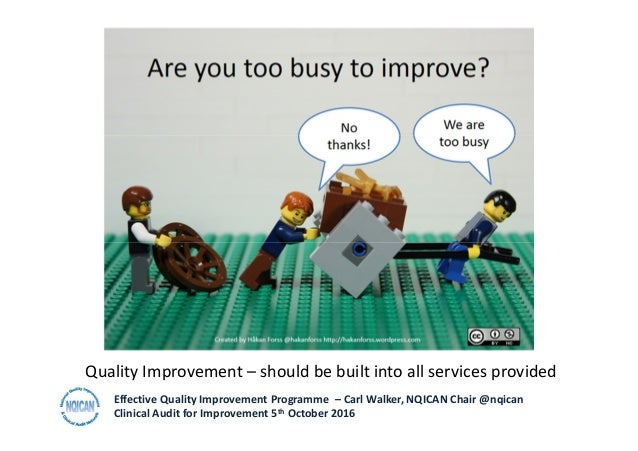 developing an effective local quality improvement programme