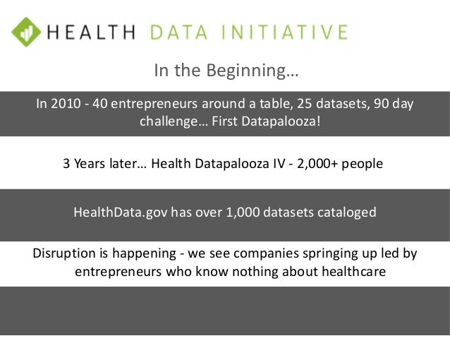 Improve health, health care and delivery of human services by harnessing the power of data and fostering a culture of inno...