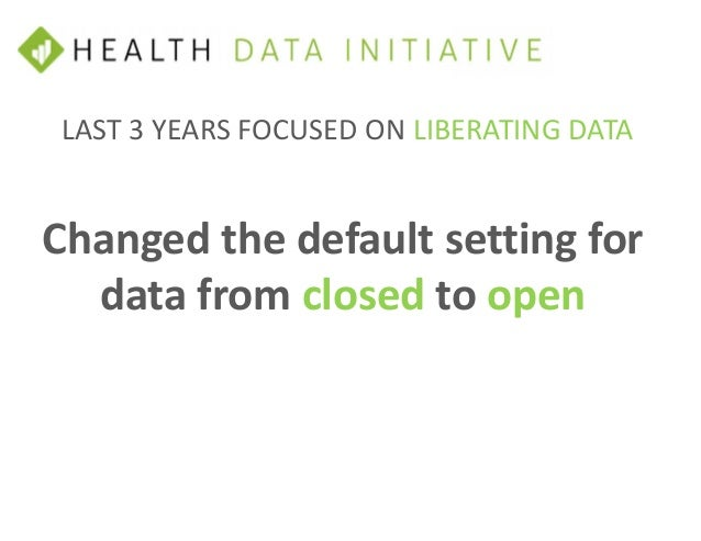 • Improving metadata quality for better usability • Area of the platform for non-HHS data • Obtain future funding • User f...