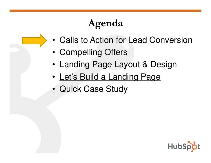 Lead Generation - Landing Page HubSpot May2009 Slide 2