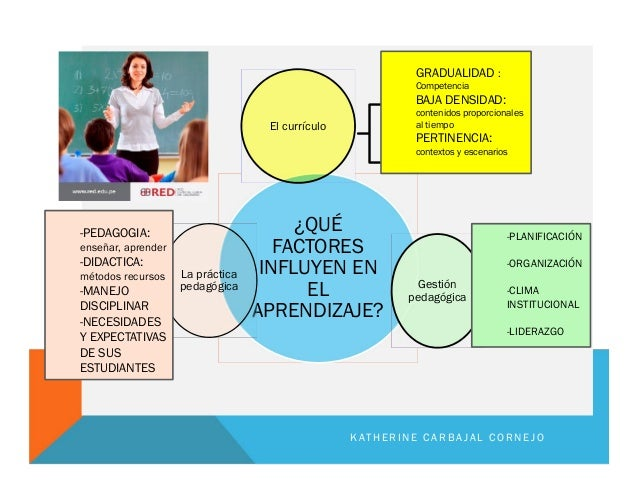 ¿QUÉ FACTORES INFLUYEN EN EL APRENDIZAJE? El currículo Gestión pedagógica La práctica pedagógica GRADUALIDAD : Competencia...