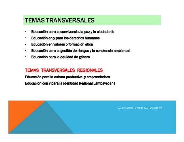 TEMAS TRANSVERSALES • Educación para la convivencia, la paz y la ciudadanía • Educación en y para los derechos humanos • E...