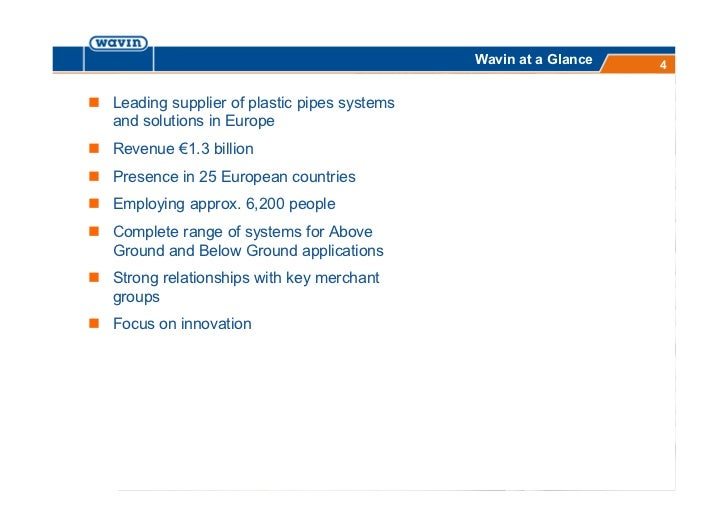 wavin corporate presentation 2012