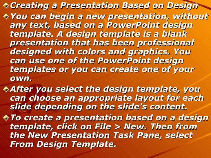 microsoft powerpoint 2003, Presentation templates