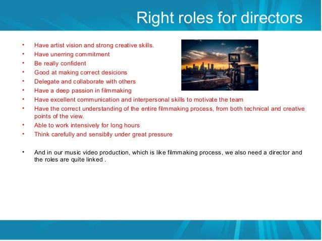 Discribtion for the role of directors