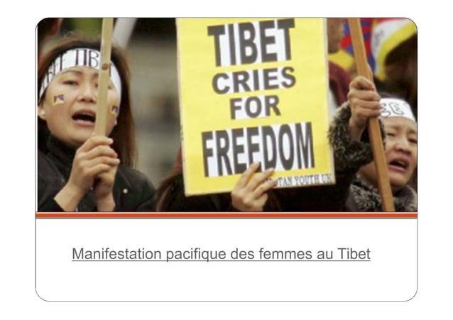Manifestation pacifique des femmes au Tibet