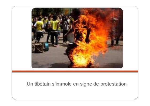 Un tibétain s'immole en signe de protestation
