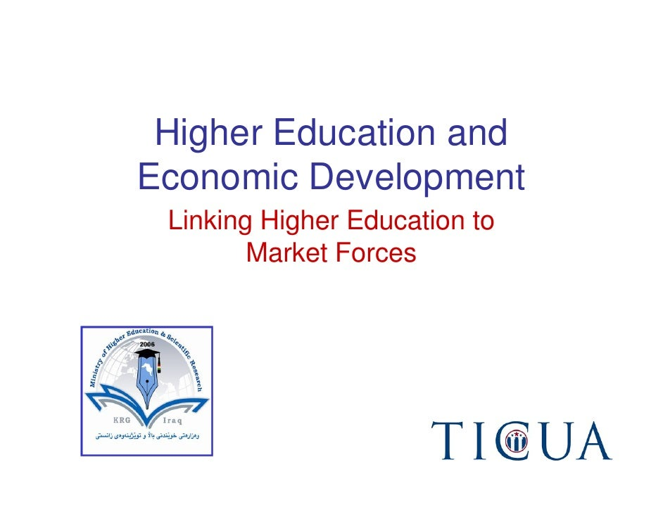 Higher Education and Economic Development  Linking Higher Education to         Market Forces