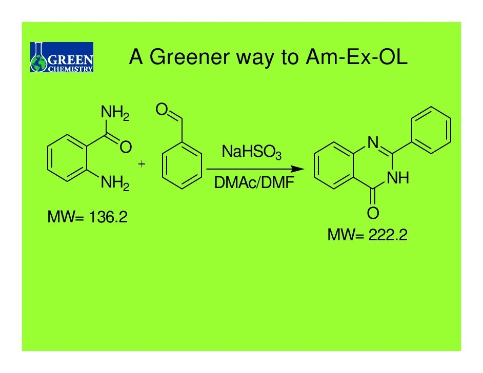 green chem At the university of scranton we have been involved in bringing green chemistry  into the classroom for we think it is essential that our future chemists are taught.