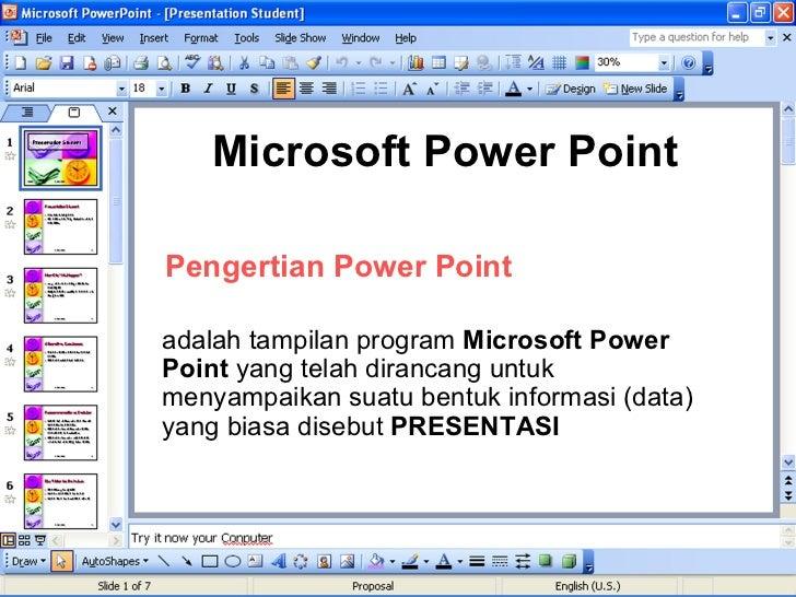 apa pengertian dari microsoft powerpoint