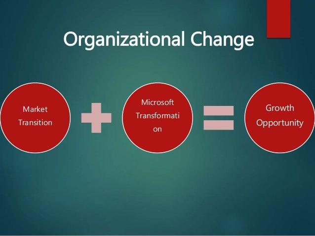 organizational changes at microsoft corporation