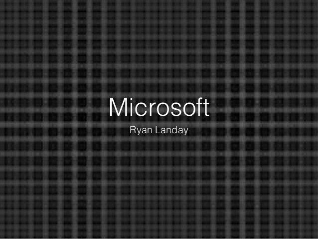 Microsoft Ryan Landay