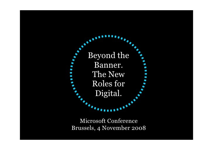 The New Roles for Digital