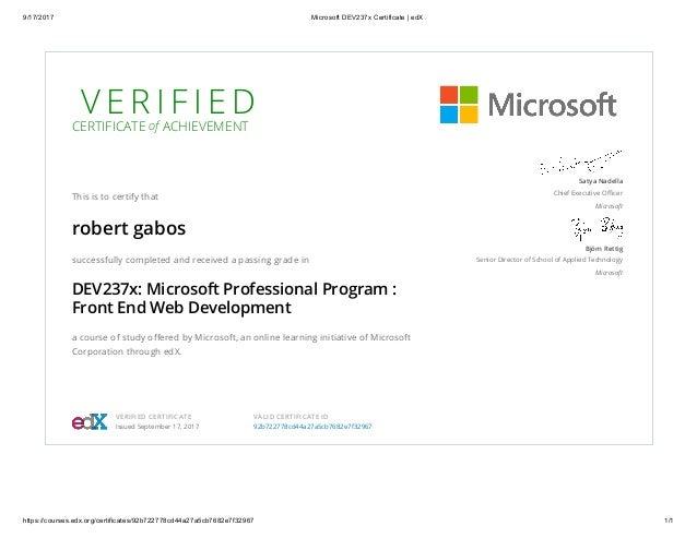 edX - Microsoft Professional Program - Front End Web