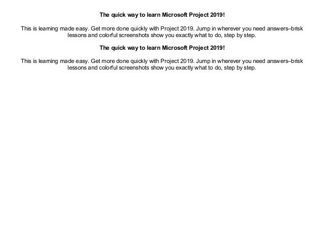 PDF~] Microsoft Project 2019 Step by Step (Step by Step