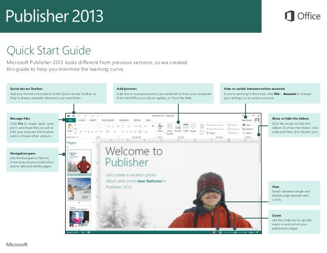 Microsoft Publisher 2013 Quickstart