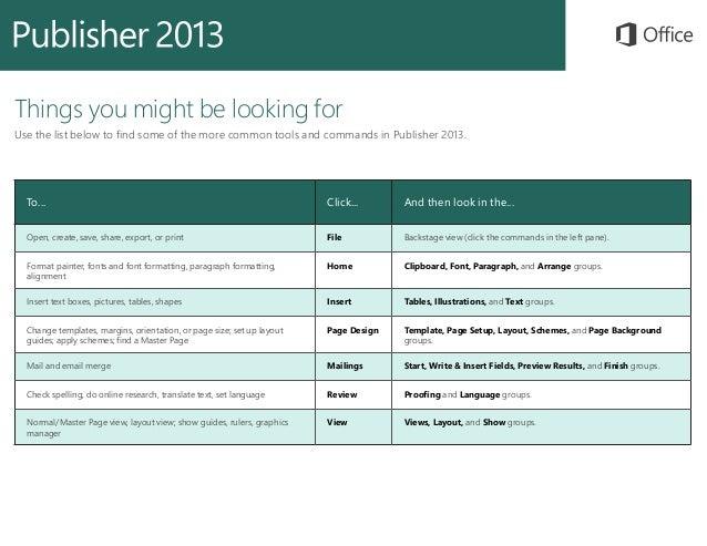 Microsoft Publisher 2013 Quickstart Slide 3