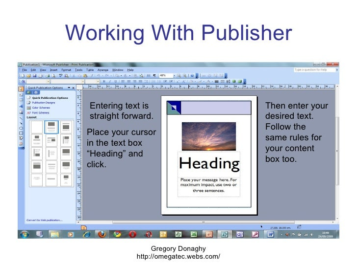 how to use publisher