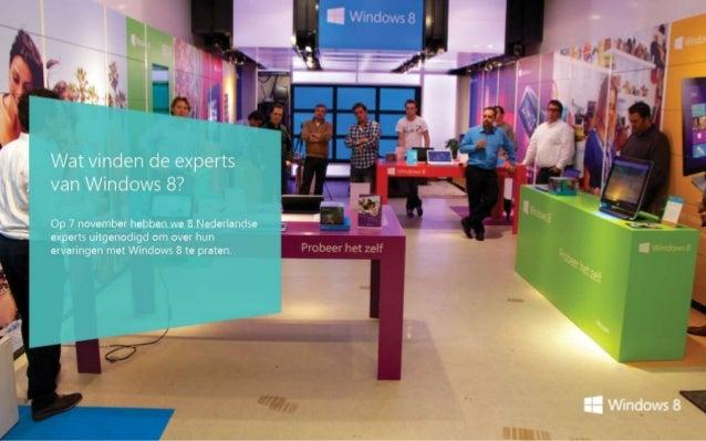Wat vinden de experts van Windows 8?