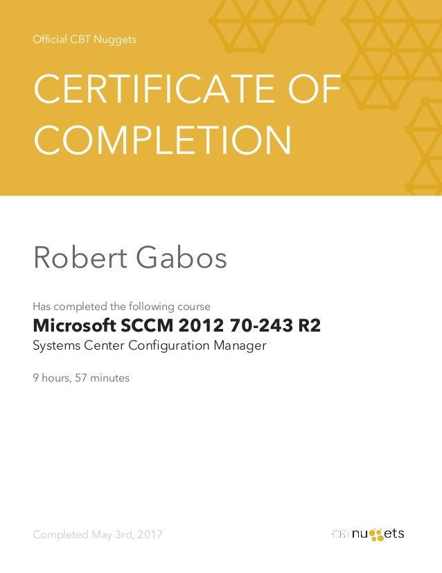 Cbt Nuggets Microsoft Sccm 2012 70 243 R2 Systems Center Configurat