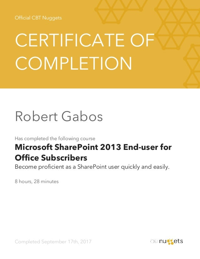Cbt Nuggets Microsoft Sharepoint 2013 End User For Office Subscribe