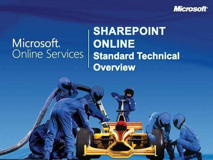 Sharepoint Online Standard Technical Overview<br />